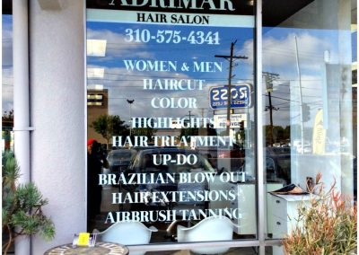 vinyl lettering for windows Window graphics for beauty salon white vinyl decals